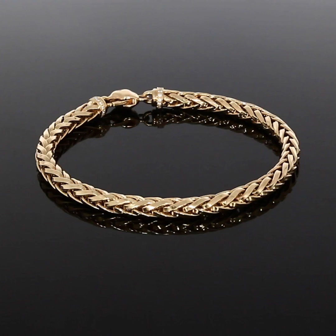Handmade English Chain 19cm Medium Chain Bracelet<br /> in 18CT Rose Gold