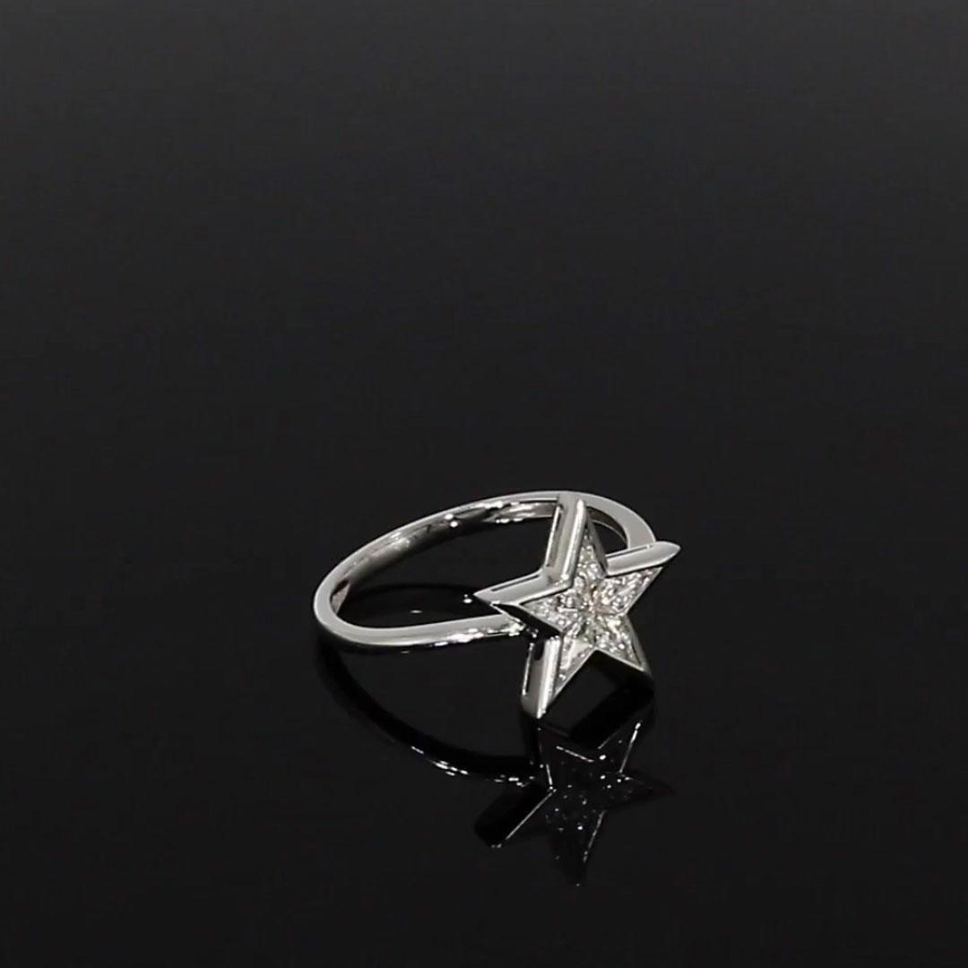 RockStar Diamond Dress Ring<br /> 0.31CT in White Gold
