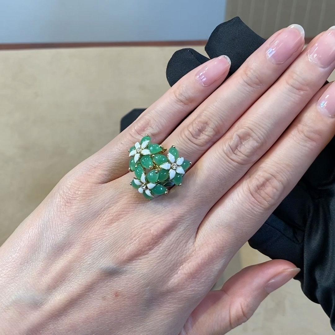 Wildflower Primrose Diamond Ring<br /> 0.07CT in Yellow Gold