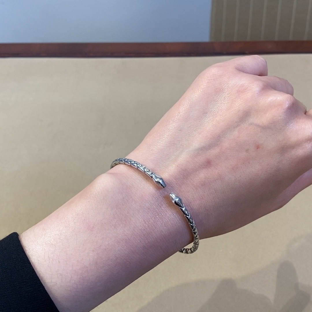 Groove Textured Bangle<br /> in 18CT White Gold