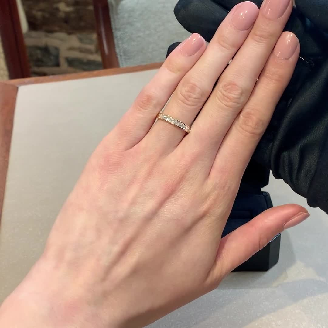 RockChic Half-Eternity Diamond Ring<br /> 0.75CT in Rose Gold
