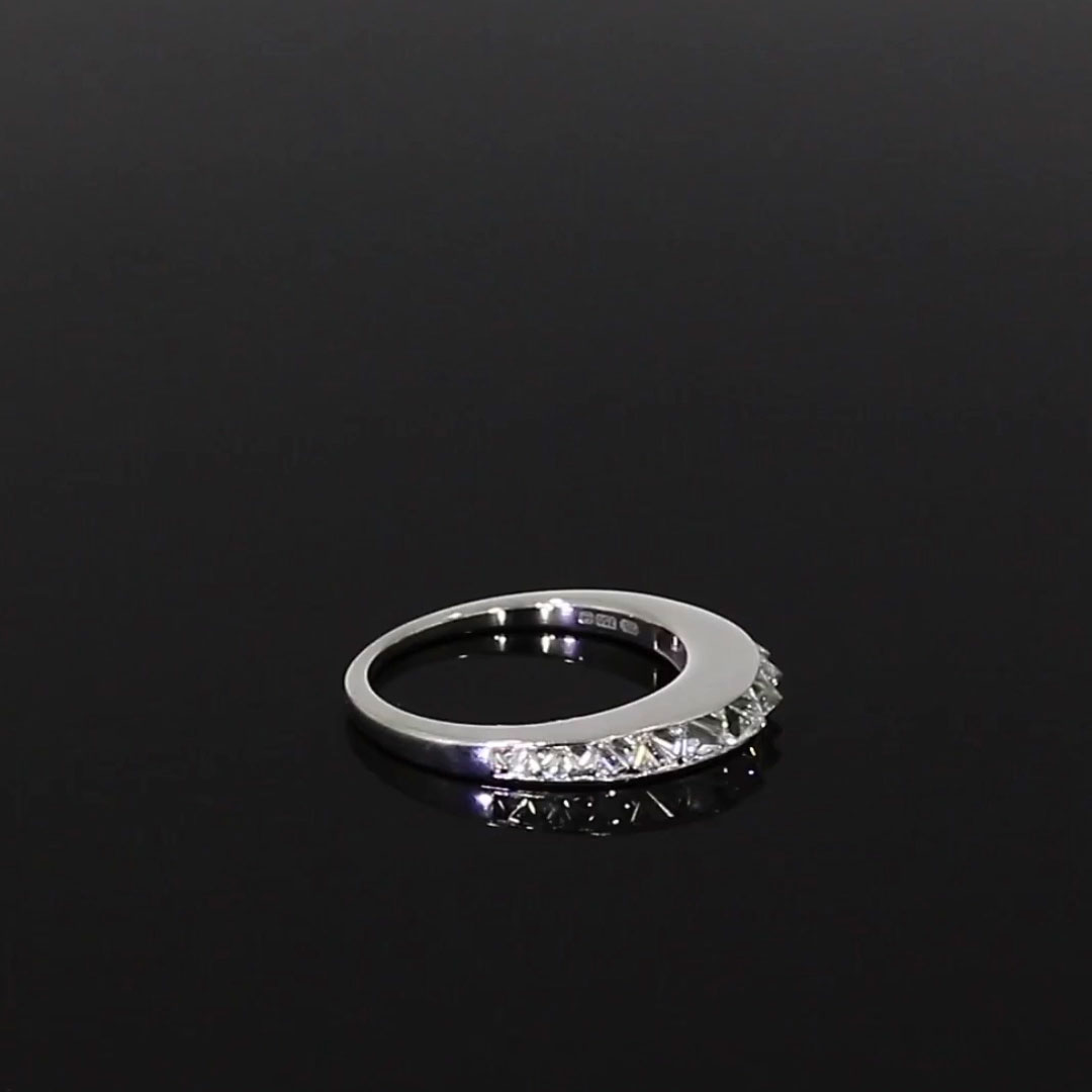 RockChic Domed Diamond Ring<br /> 1.21CT in White Gold