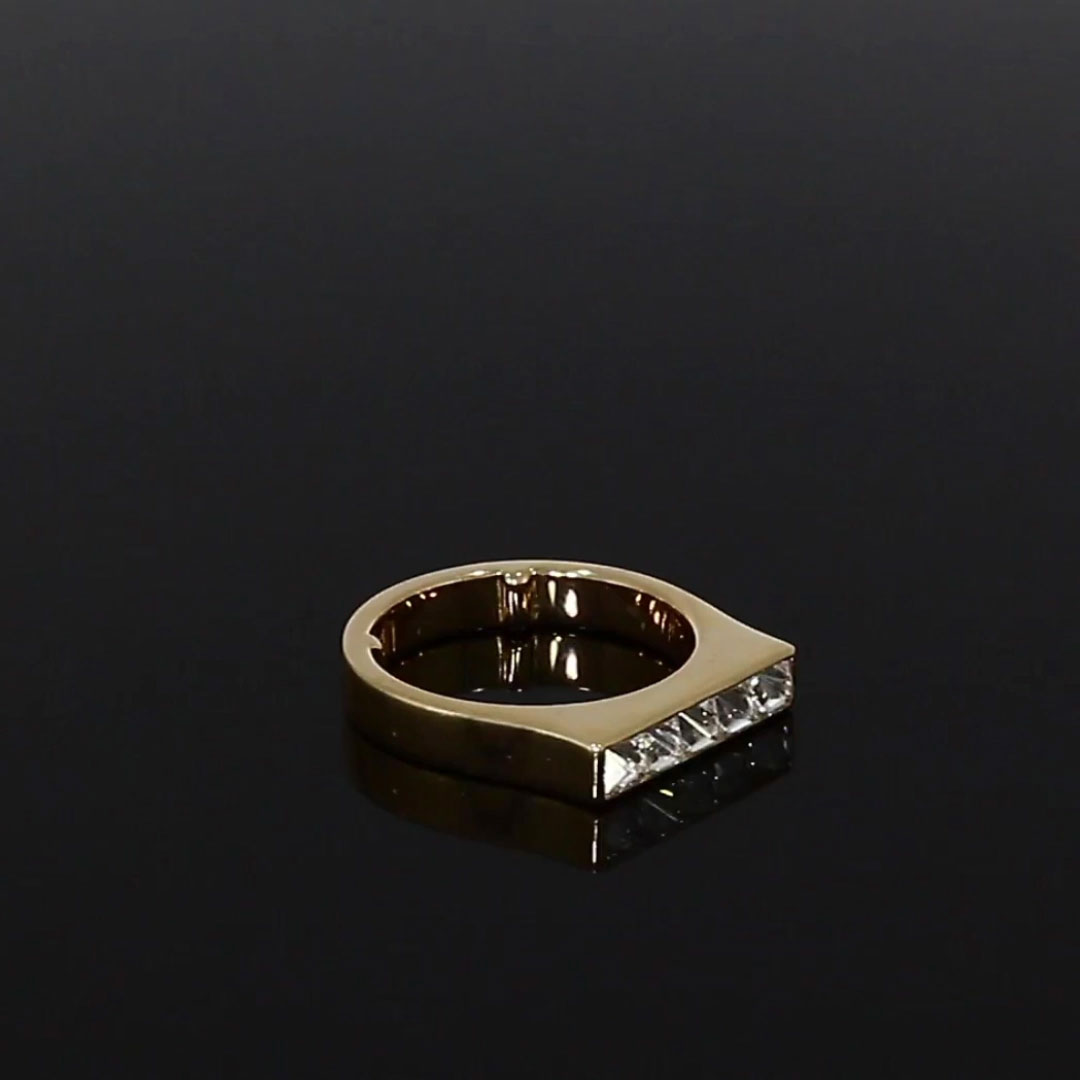 RockChic Flat-Topped Diamond Ring<br /> 0.77CT in Rose Gold