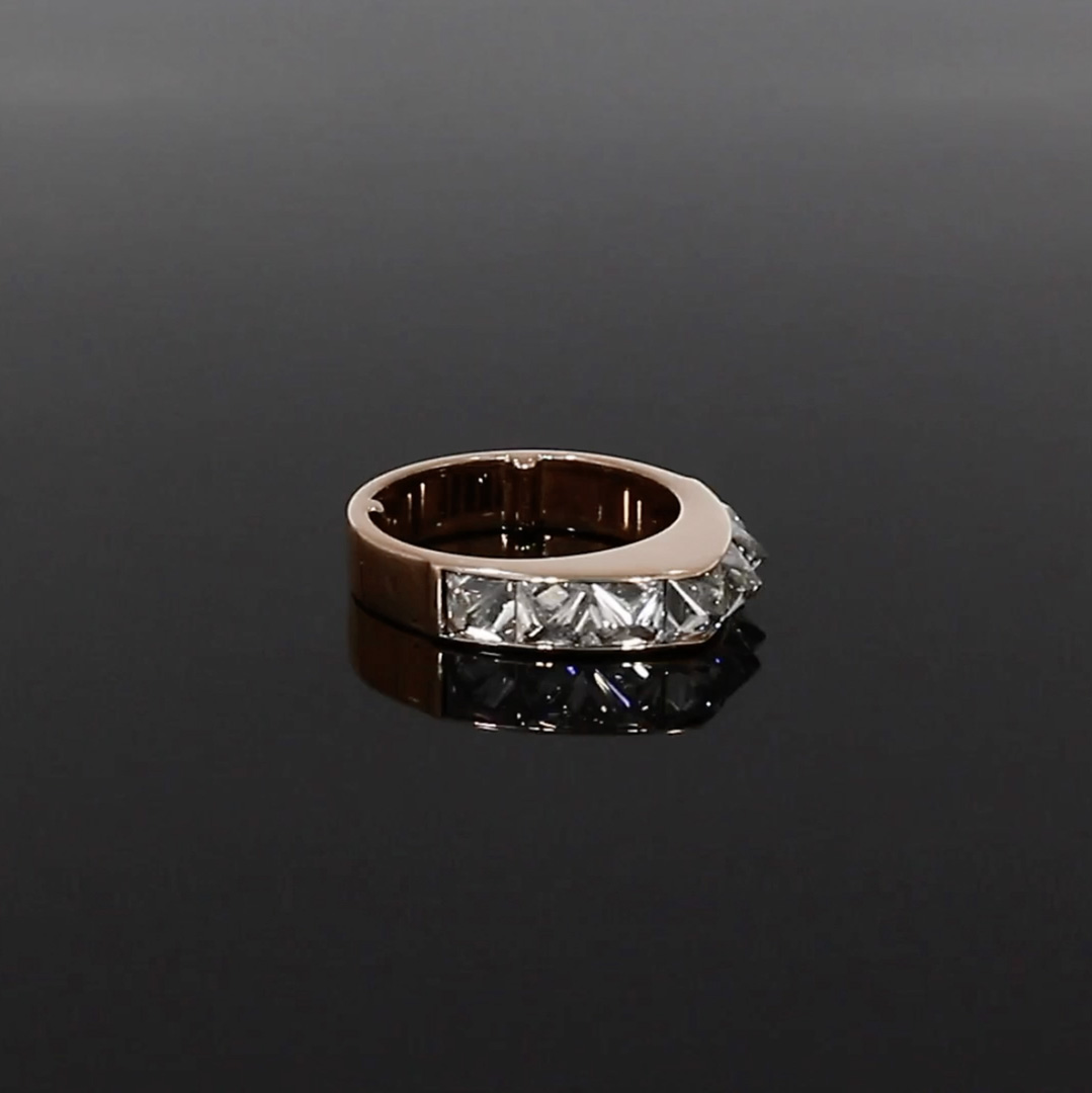 RockChic Peaked Diamond Ring<br /> 2.86CT in Rose Gold
