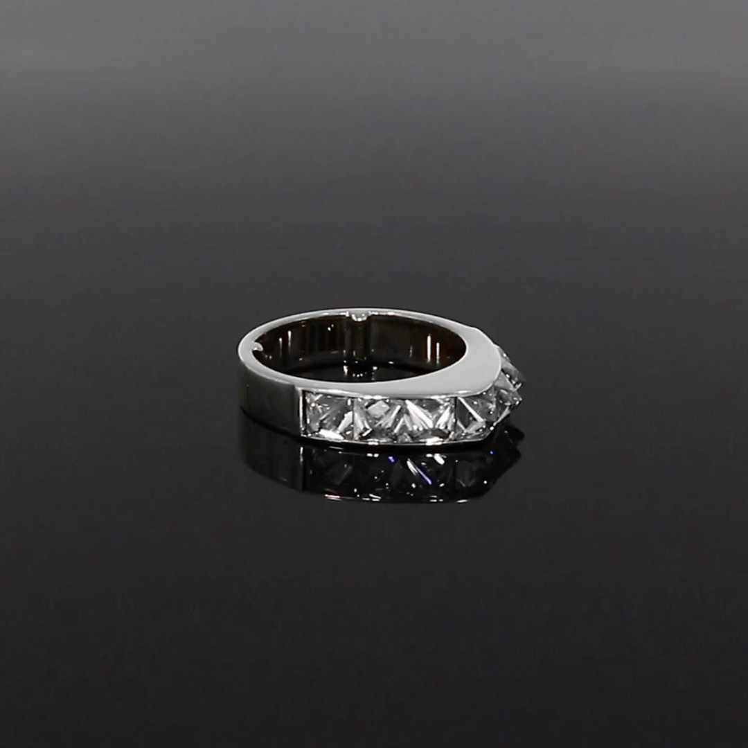 RockChic Peaked Diamond Ring<br /> 2.90CT in White Gold