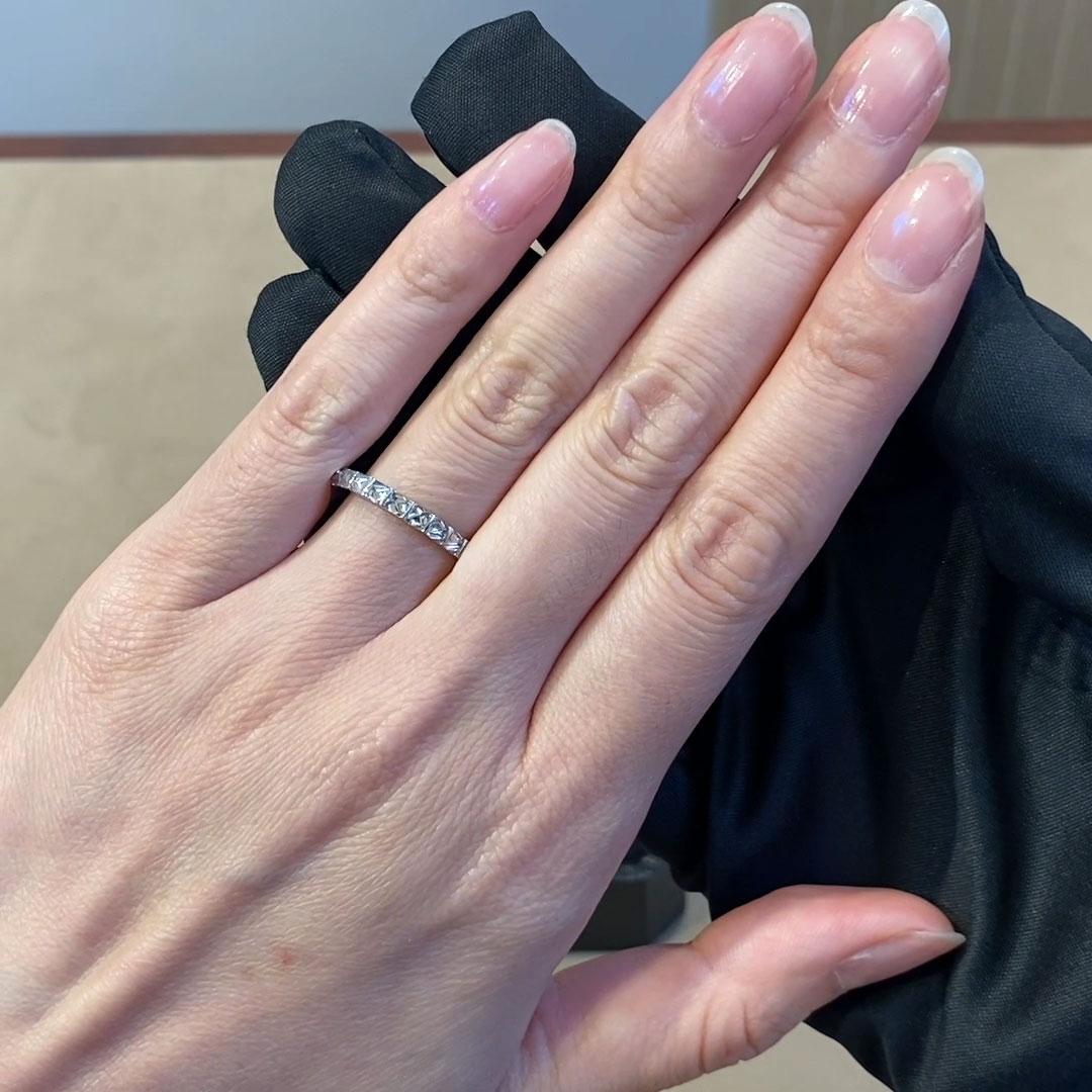 RockChic Half-Eternity Diamond Ring<br /> 0.79CT in Platinum