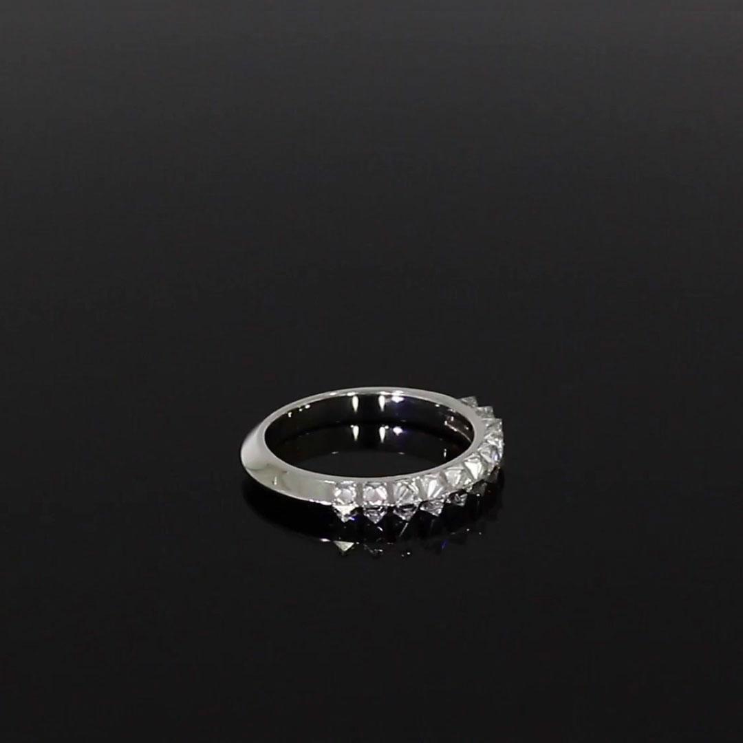 RockChic Two-Row Diamond Ring<br /> 1.08CT in Platinum
