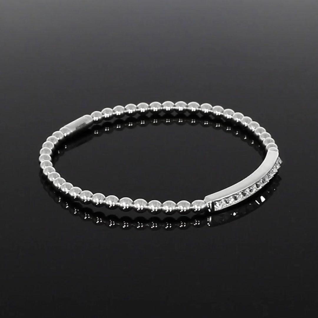 RockChic Diamond Expandable Bangle<br /> 0.85CT in White Gold