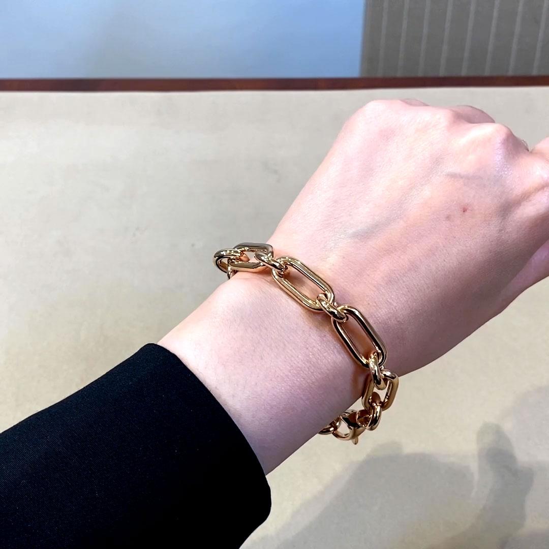 Havana Chain Bracelet<br /> in Rose Gold