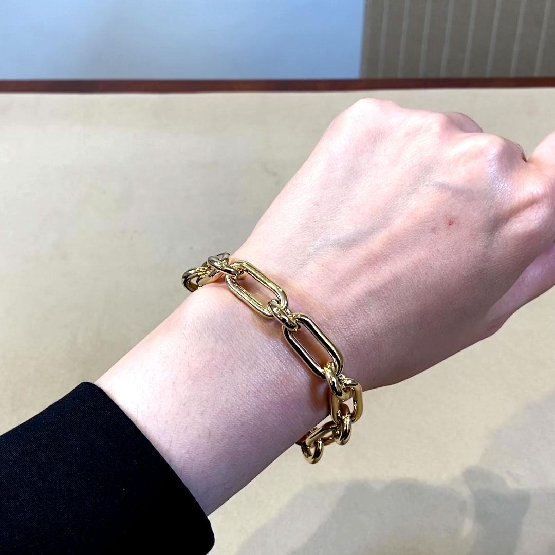 Havana Chain Bracelet<br /> in Yellow Gold