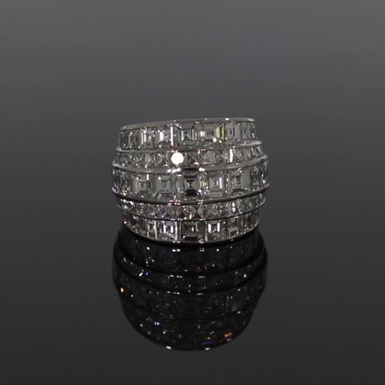 Manhattan Large Diamond Ring <br /> 12.88CT in Platinum