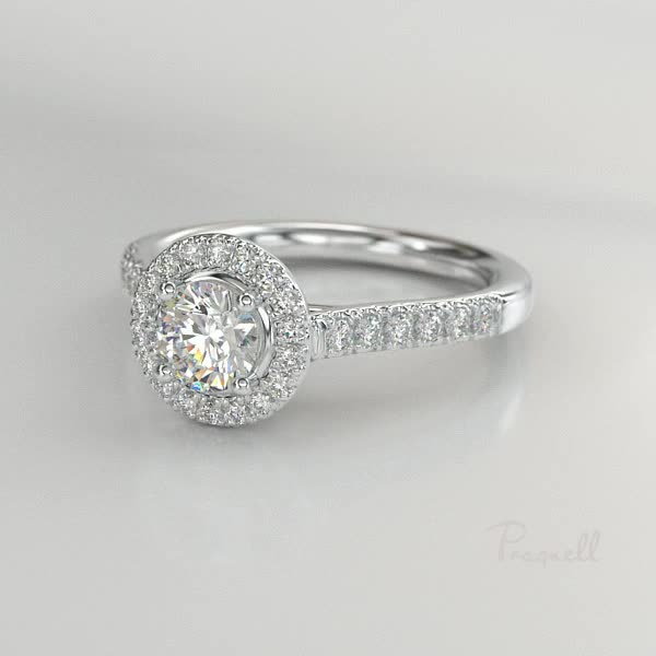 0.72CT Diamond Cluster Ring<br /> Platinum Celestial Setting