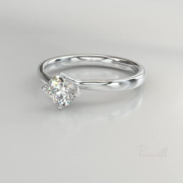 0.30CT Diamond Solitaire Ring<br /> Platinum Union Setting