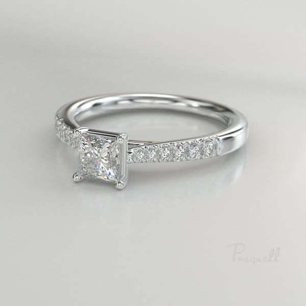 0.53CT Diamond Solitaire Ring<br /> Platinum Celestial Setting