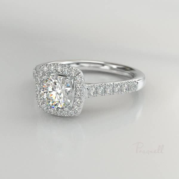 0.73CT Diamond Cluster Ring<br /> Platinum Celestial Setting