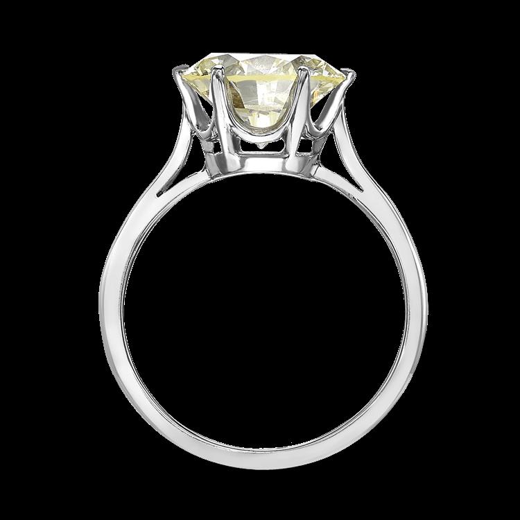 Brilliant Cut Diamond Six Claw Ring