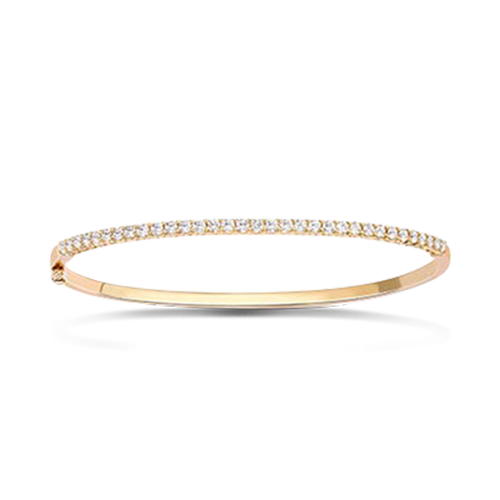 Diamond Half Hoop Bangle<br /> 1.04CT in 18CT Yellow Gold