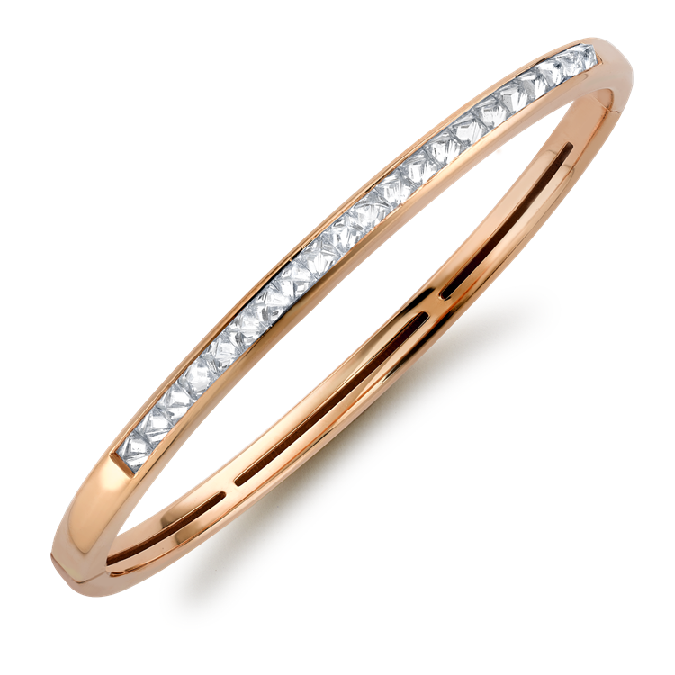 RockChic Diamond Bangle<br /> 1.80CT in Rose Gold