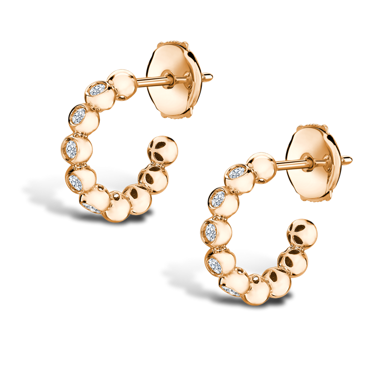Bohemia Diamond Hoop Earrings<br class='d-md-block d-none'/> 0.27CT in 18CT Rose Gold