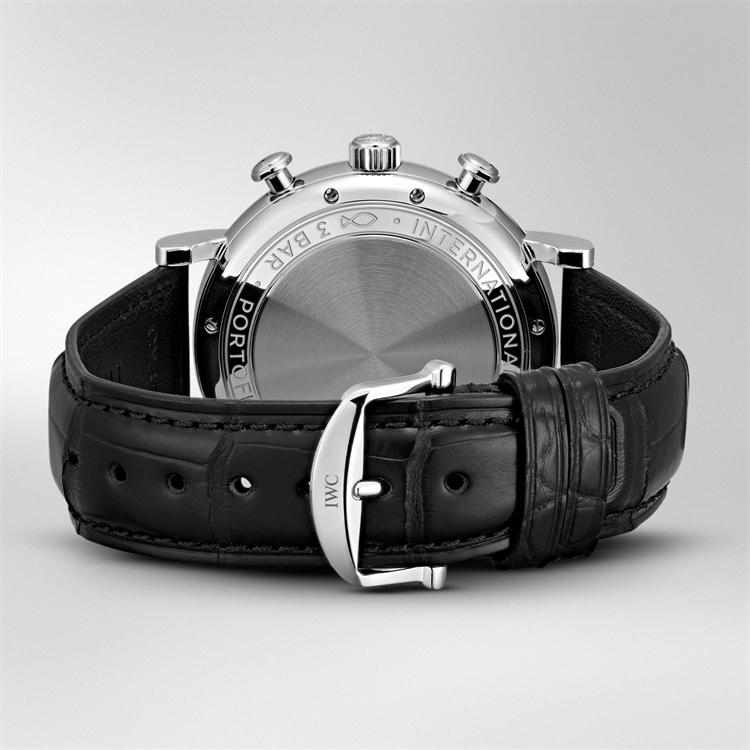 IWC Portofino Chronograph  IW391031 42mm, Silver Dial, Baton Numerals_4