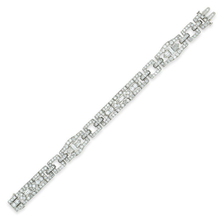 Cartier Art Deco Diamond Set Bracelet 8.70ct in Platinum