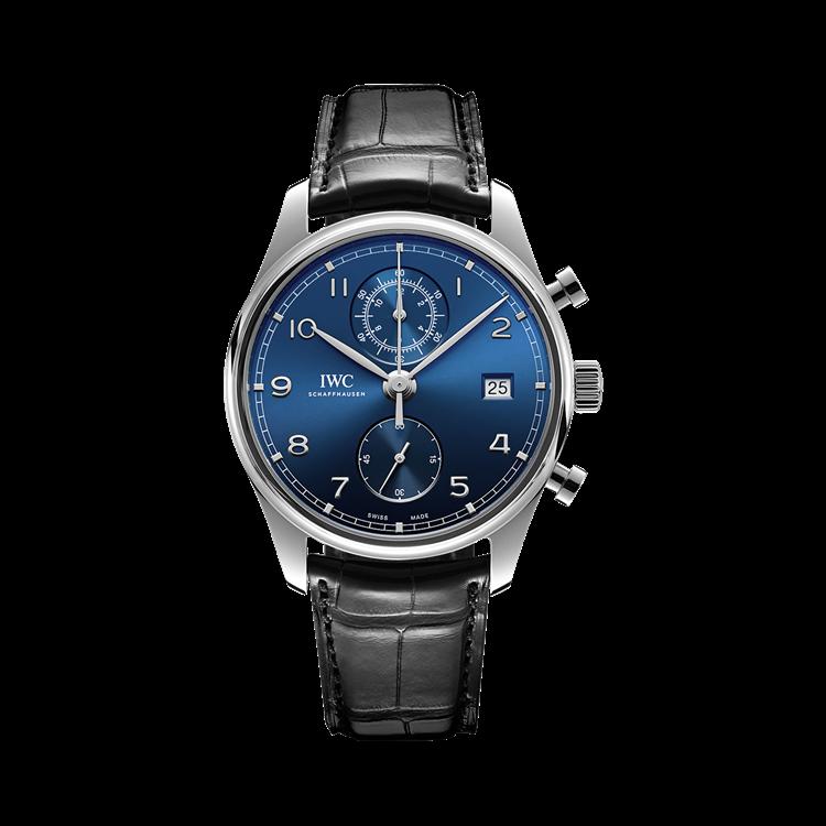 IWC Portugieser Chronograph Classic  IW390303 42mm, Blue Dial, Arabic Numerals_1