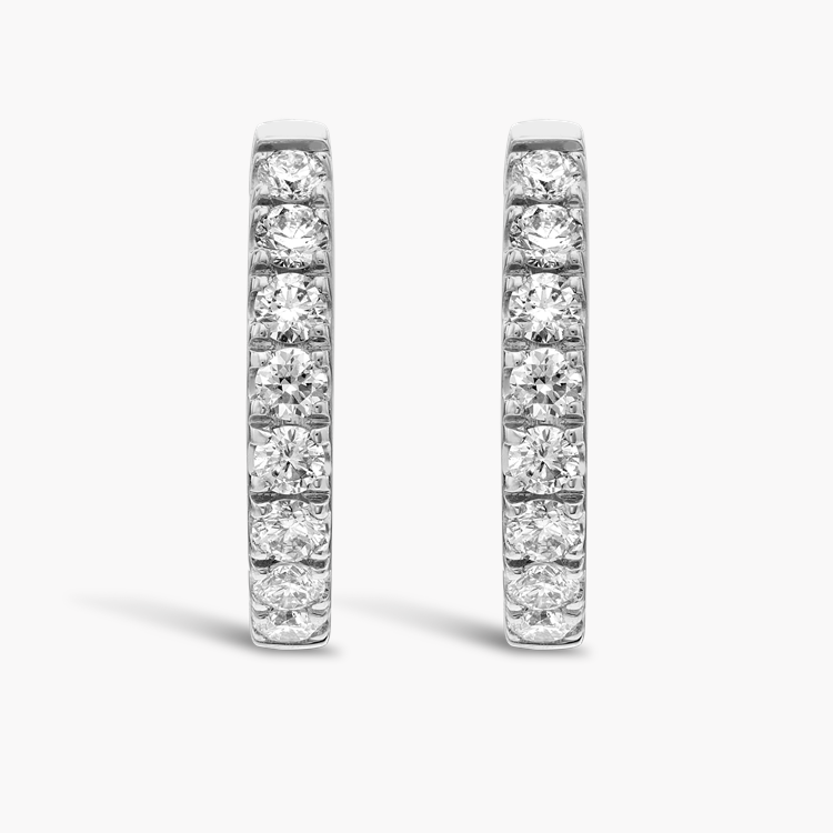 Brilliant Cut Diamond Hoop Earrings 0.45CT in 18CT White Gold Brilliant cut, Claw set_1