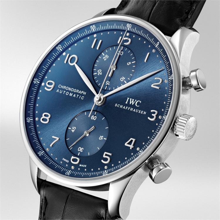 IWC Portugieser Chronograph  IW371491 40.9mm, Blue Dial, Arabic Numerals_2