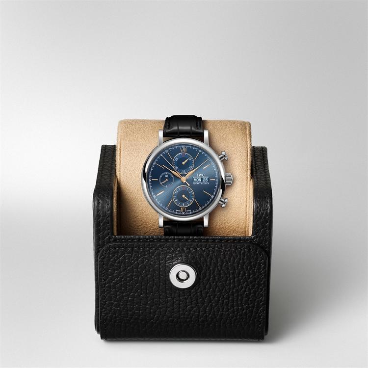IWC Portofino Chronograph  IW391036 42mm, Blue Dial, Baton Numerals_5