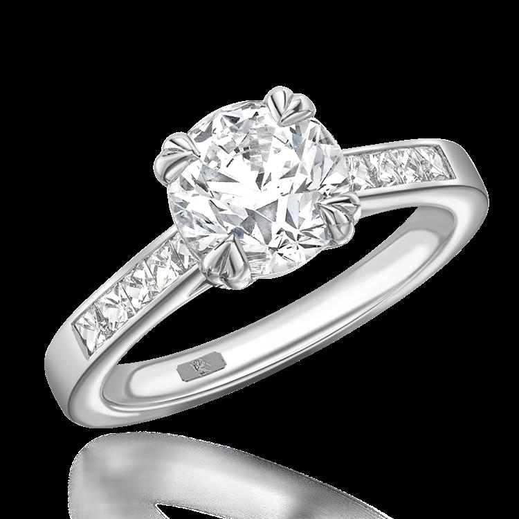 Gatsby Diamond Ring<br /> 1.72CT in Platinum