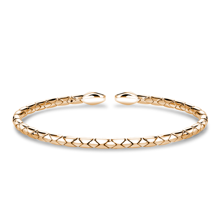 Groove Diamond Textured Bangle<br />  in Rose Gold