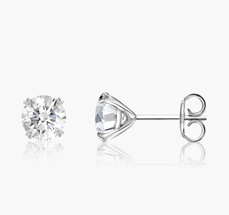 Windsor Diamond Stud Earrings 0.80CT in 18CT White Gold Brilliant cut, Claw set_2