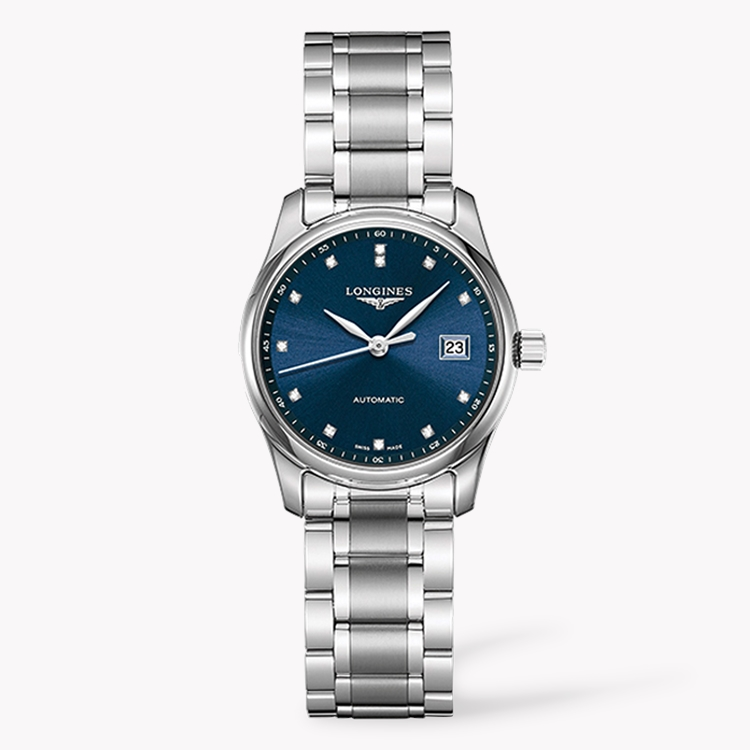Longines Master collection   L2.128.4.97.6 25.5mm, Blue Dial, Diamond Numerals_1