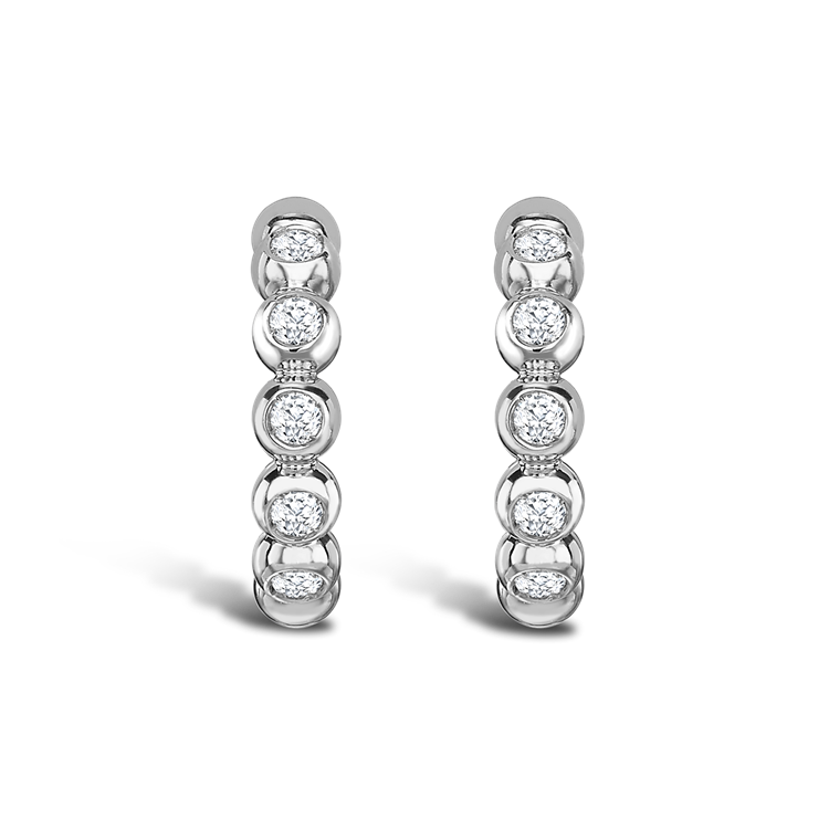 Bohemia Diamond Hoop Earrings 0.27CT in 18CT White Gold