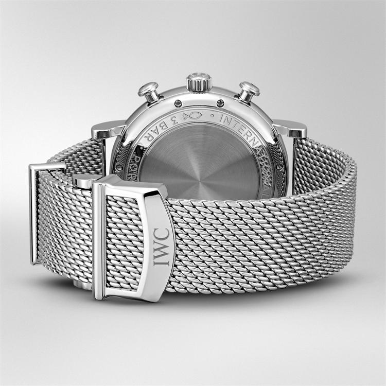 IWC Portofino Chronograph  IW391028 42mm, Silver Dial, Baton Numerals_4