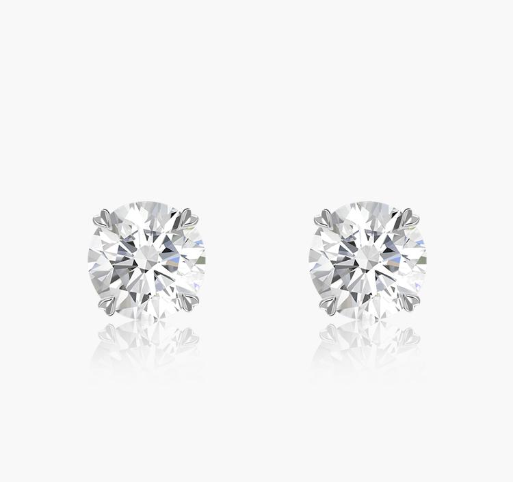 Windsor Diamond Stud Earrings 0.80CT in 18CT White Gold