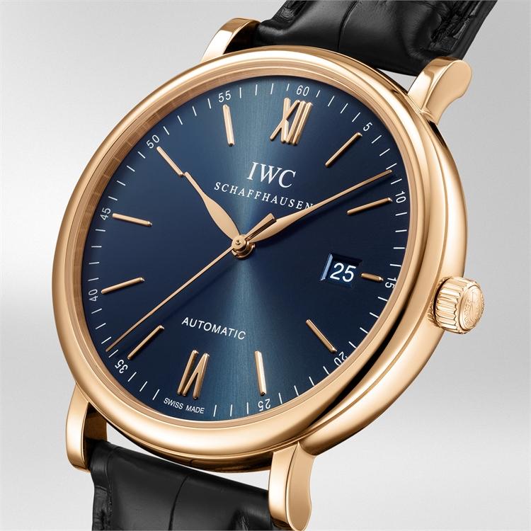 IWC Portofino Automatic  IW356522 40mm, Blue Dial, Baton Numerals_2