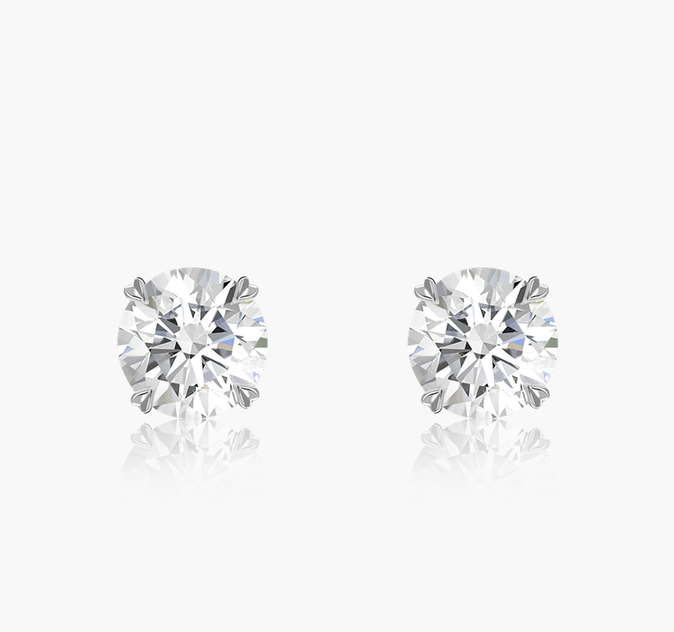 Windsor Diamond Stud Earrings 0.70CT in 18CT White Gold Brilliant cut, Claw set_1