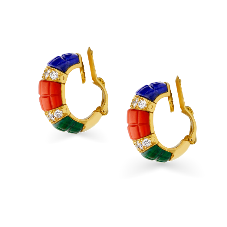 Van Cleef and Arpels Diamond Ear Clips <br /> in Yellow Gold