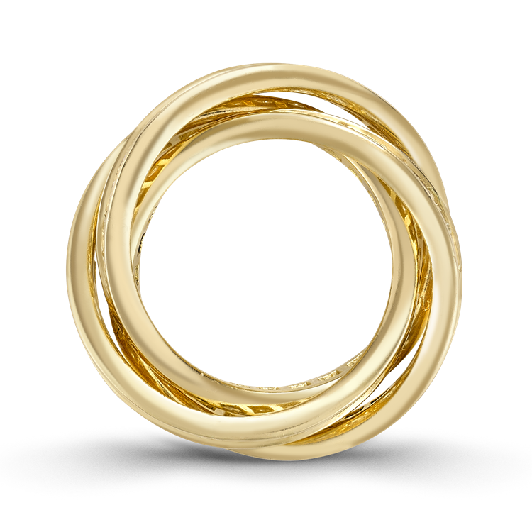 Contemporary Cartier Trinity Ring 1.80CT in Yellow Gold Brilliant Cut Diamond Band Ring_3