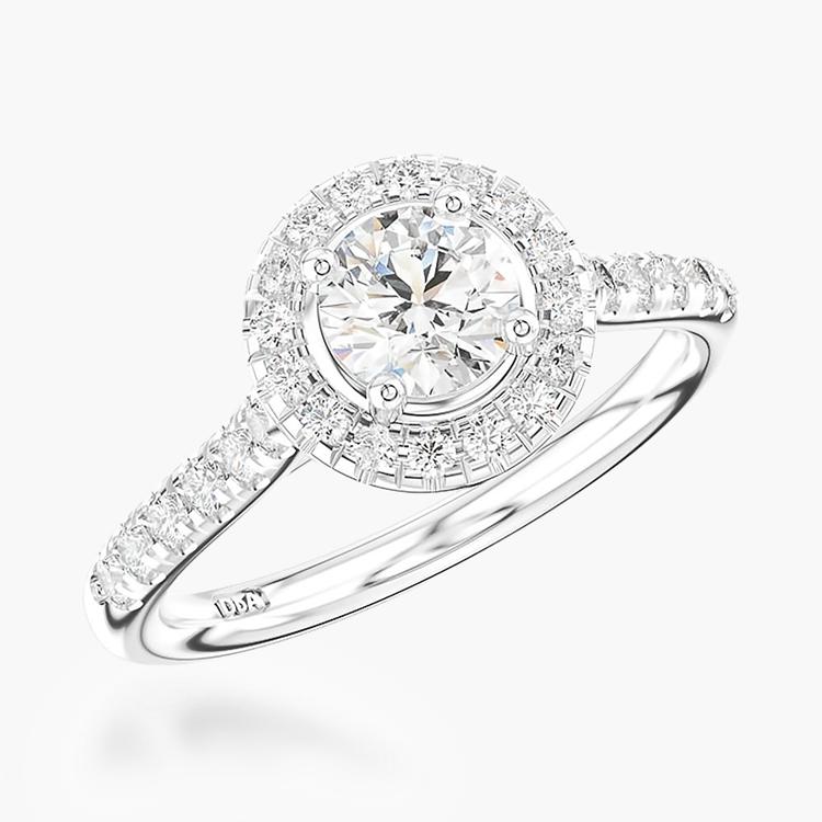 0.50CT Diamond Cluster Ring Platinum Celestial Setting