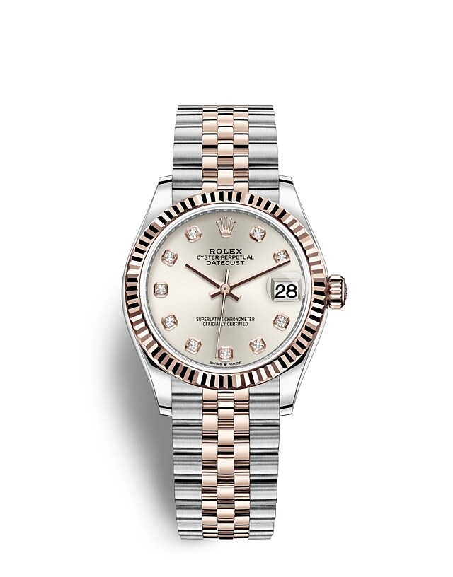 Datejust 31 Oyster, 31 mm, Oystersteel and Everose gold