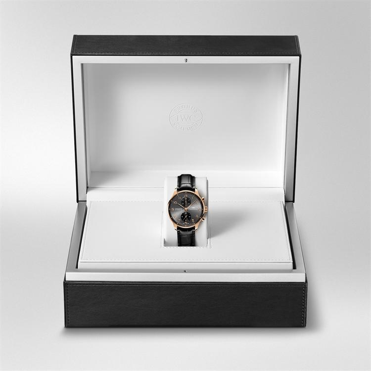 IWC Portugieser Chronograph  IW371482 40.9mm, Grey Dial, Arabic Numerals_5