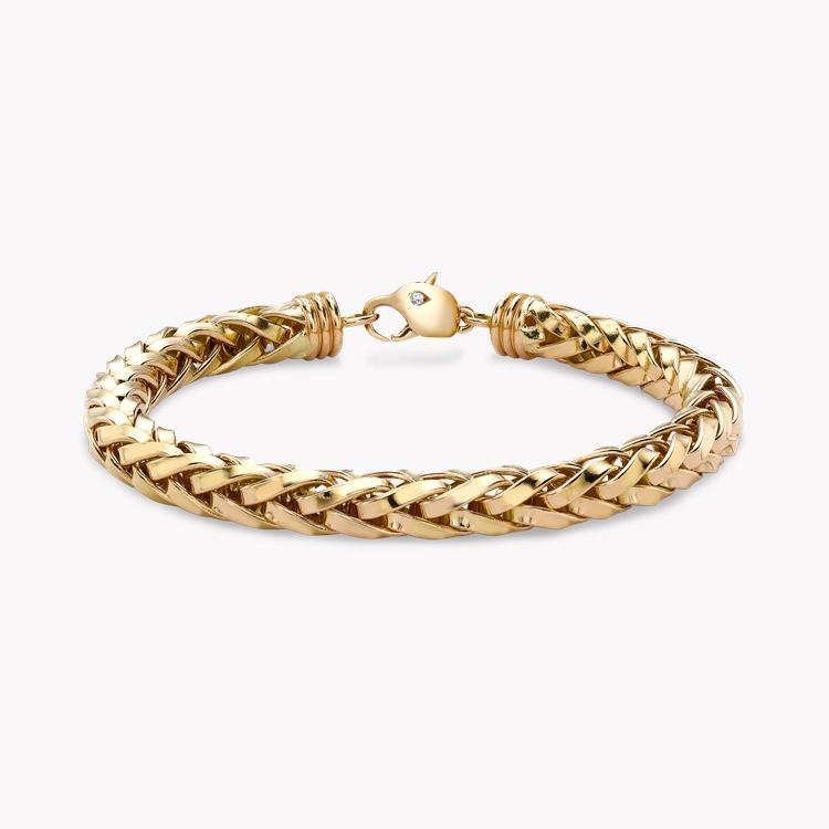 Handmade English Chain 19cm Heavy Chain Bracelet in 18CT Rose Gold _1