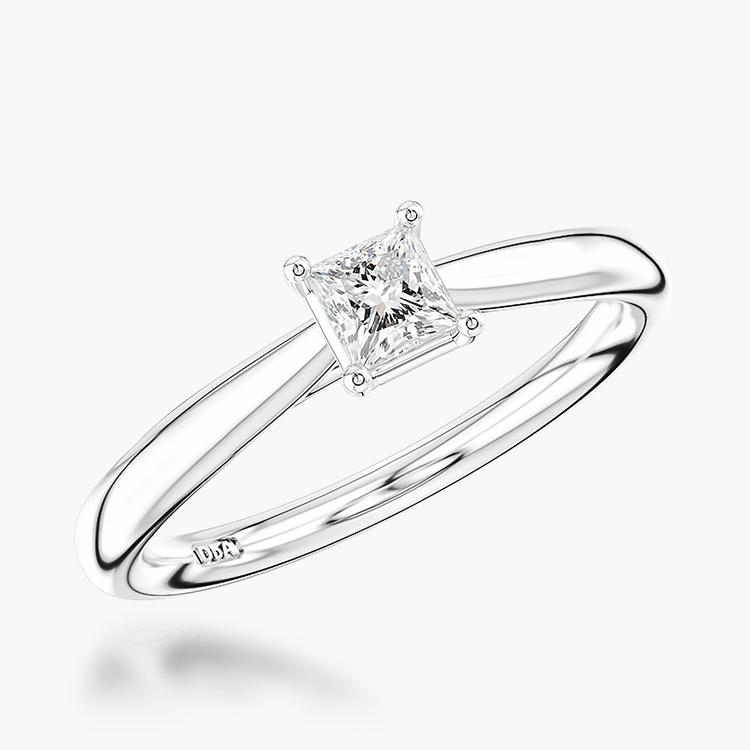 0.31CT Diamond Solitaire Ring Platinum Gaia Setting