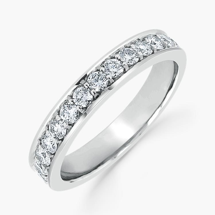 Brilliant Cut Diamond Eternity Ring 1.30CT in Platinum Brilliant Cut, Eternity, Thread Set_1