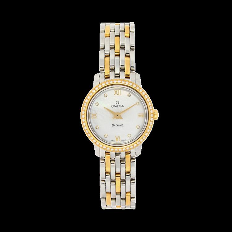 Omega De Ville Prestige  O42425246055001 24.4mm, Mother of Pearl Dial, Diamond Set_1