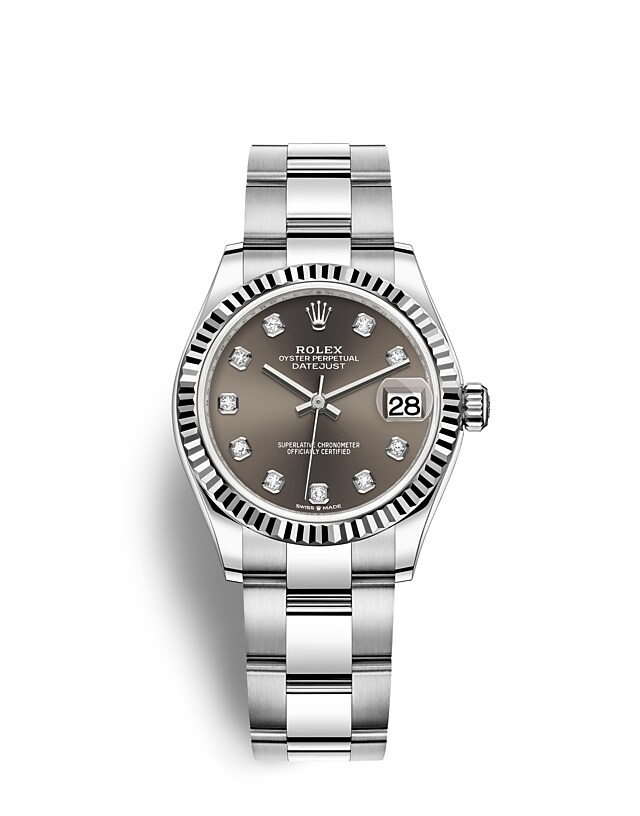 Datejust 31 Oyster, 31 mm, Oystersteel and white gold