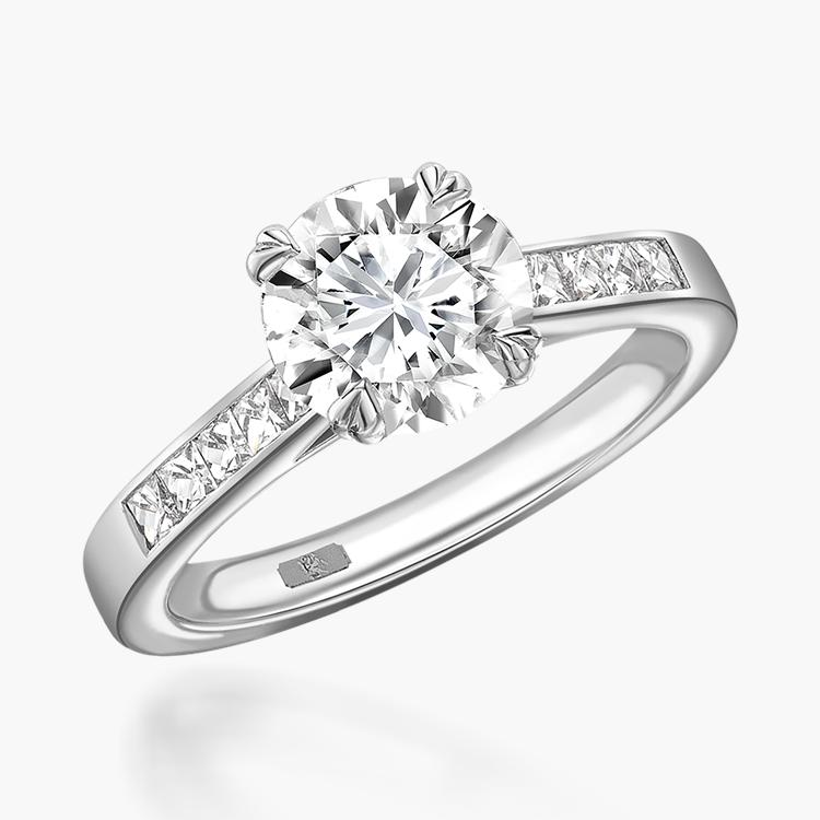 1.15CT Diamond Solitaire Ring Platinum Gatsby Setting