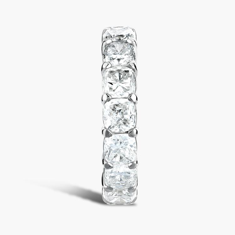 Cushion Cut Diamond Eternity Ring 6.20CT in Platinum Cushion Cut, Eternity, Claw Set_4